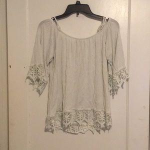 Lacy Charlotte Russe Cold Shoulder Shirt Size M